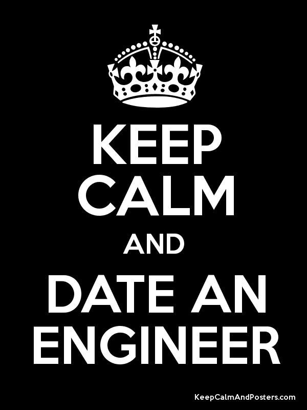 KEEP CALM AND DATE AN ENGINEER Poster