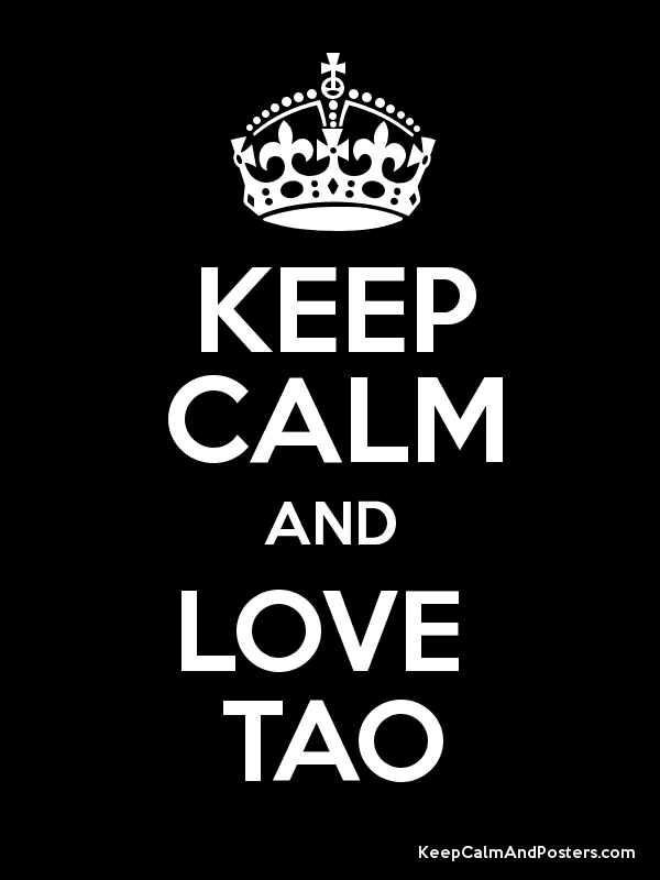 Image result for keep calm and love tao
