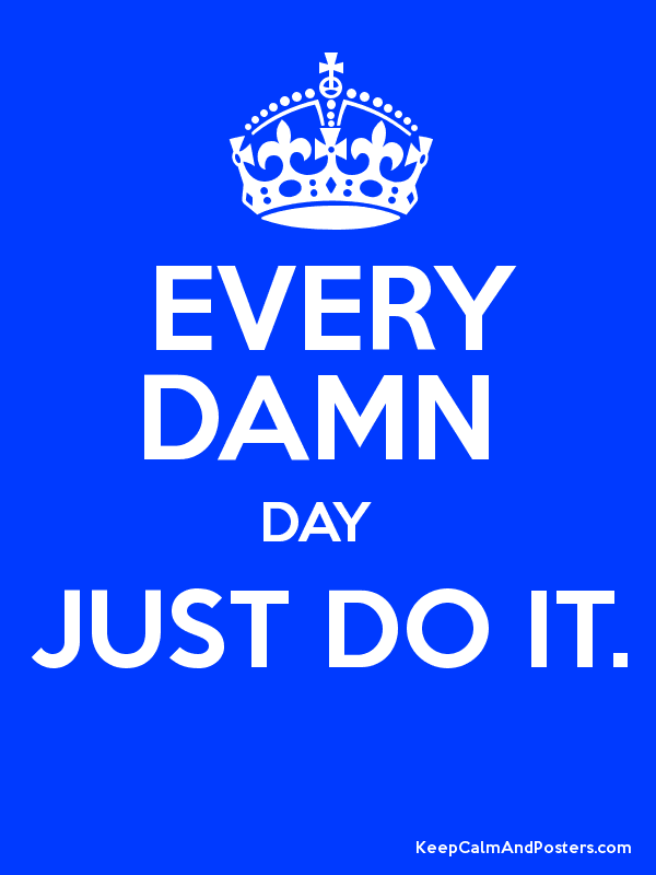 EVERY DAMN DAY JUST DO IT. - Keep Calm and Posters ...