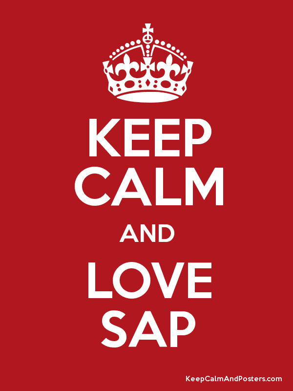 KEEP CALM AND LOVE SAP - Keep Calm and Posters Generator ...