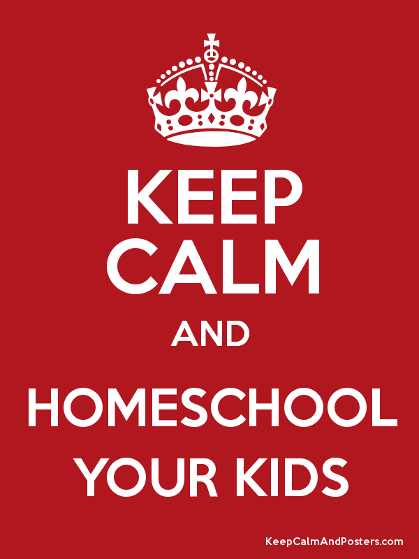 KEEP CALM AND HOMESCHOOL YOUR KIDS Poster