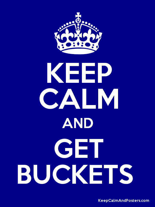 KEEP CALM AND GET BUCKETS  Poster