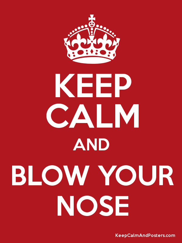 keep calm and blow your nose keep calm and posters generator