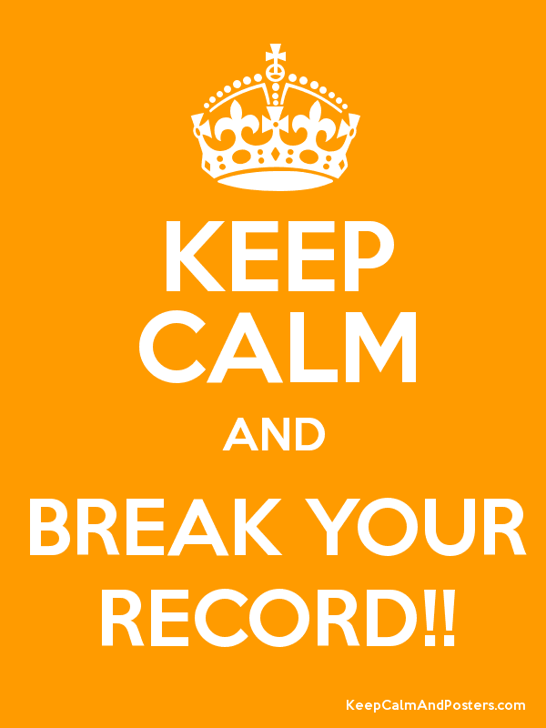 Keep Calm And Break Your Record Keep Calm And Posters