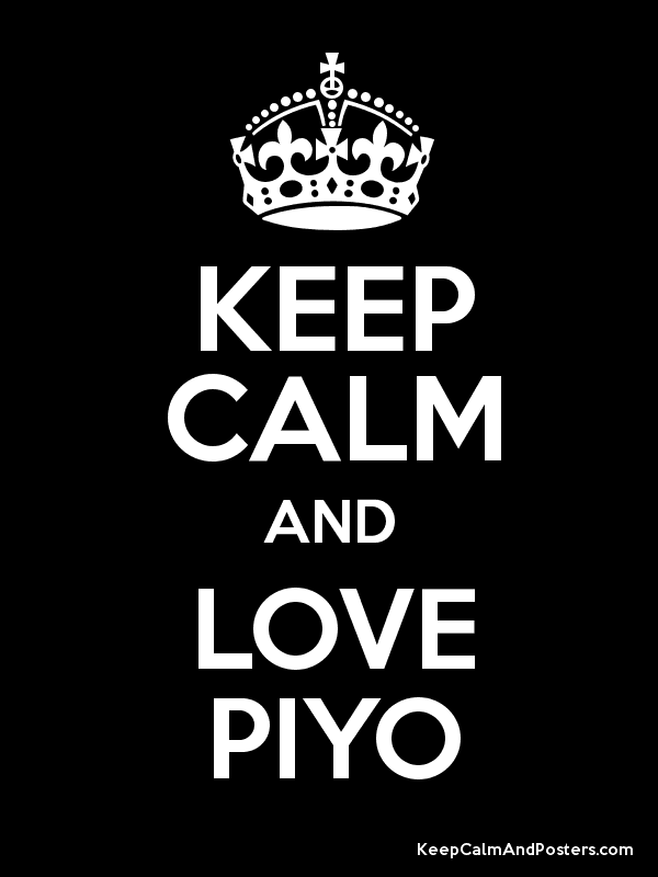 KEEP CALM AND LOVE PIYO Poster