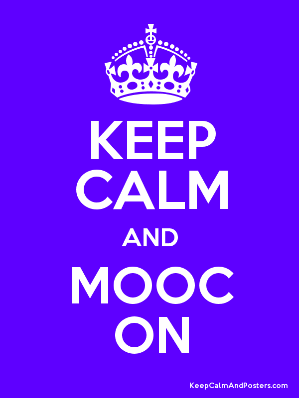 KEEP CALM AND MOOC ON Poster