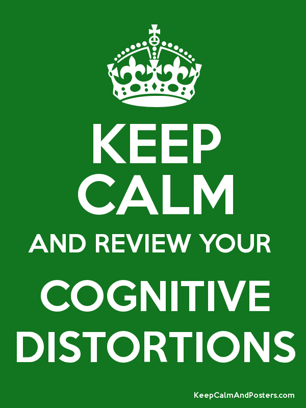 Image result for keep calm and cognitive distortions