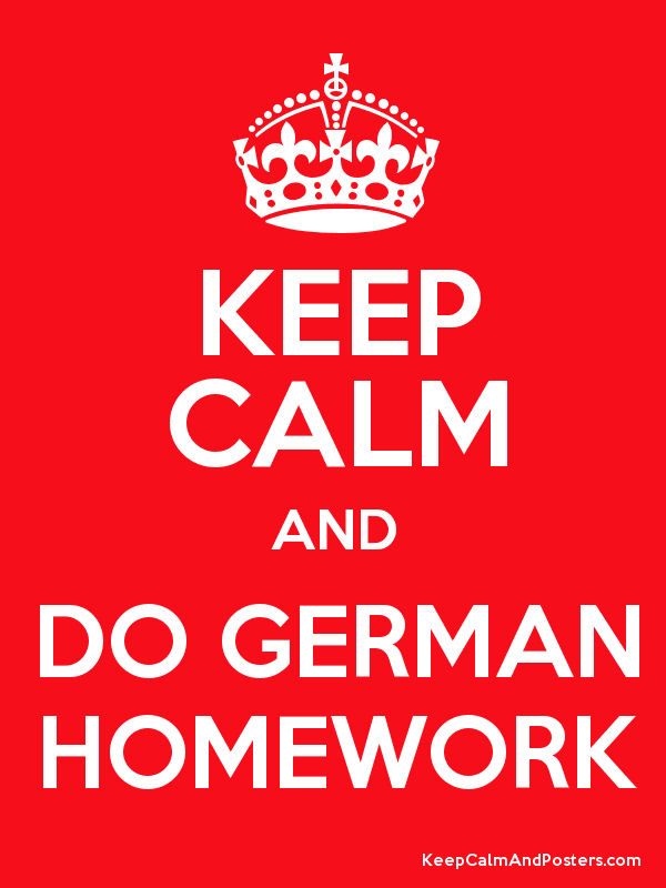 i do my homework in german