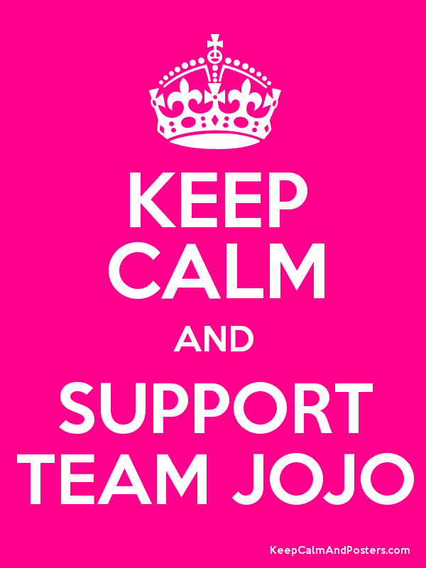 KEEP CALM AND SUPPORT TEAM JOJO - Keep Calm and Posters