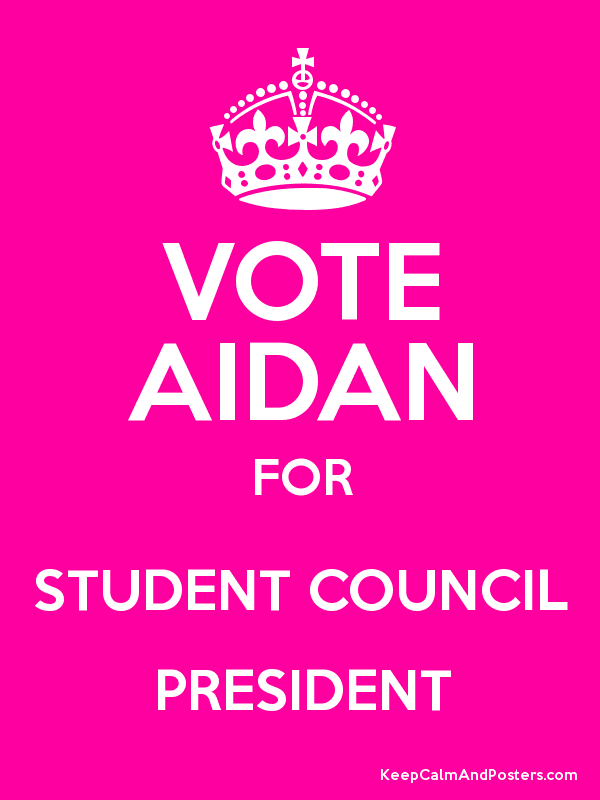 Vote For Me Student Council Posters