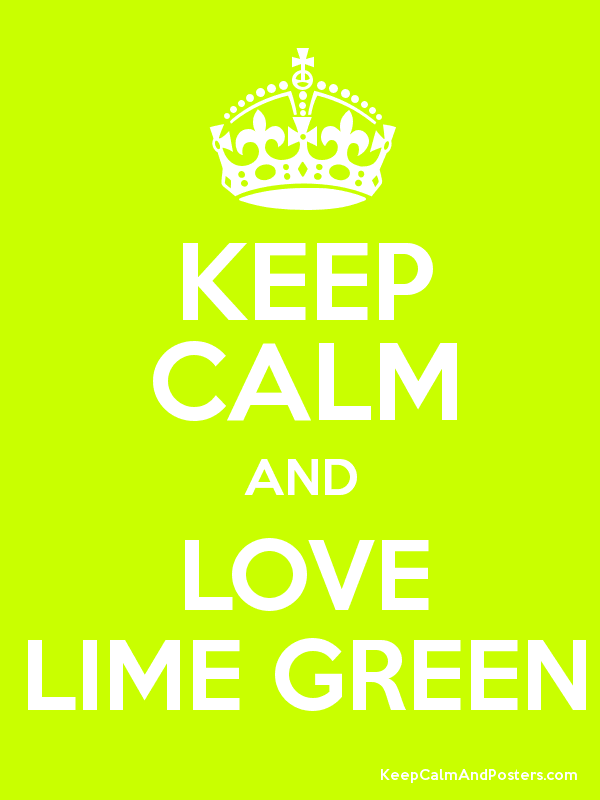 lime green posters