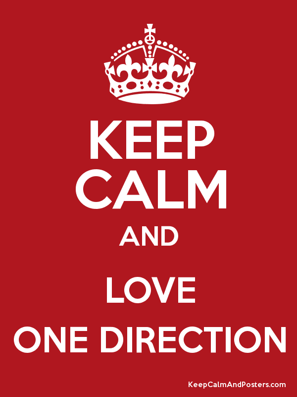 I Love One Direction Poster