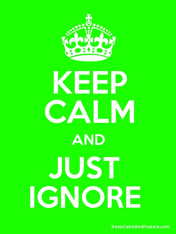 Image result for i ignore this poster