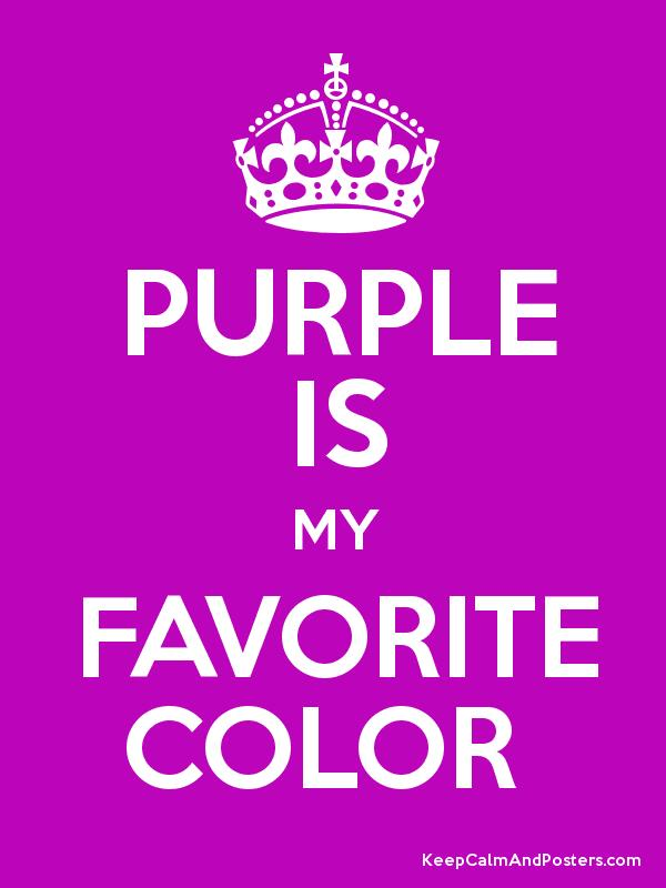 purple is my favorite color keep calm and posters generator maker for free. Black Bedroom Furniture Sets. Home Design Ideas