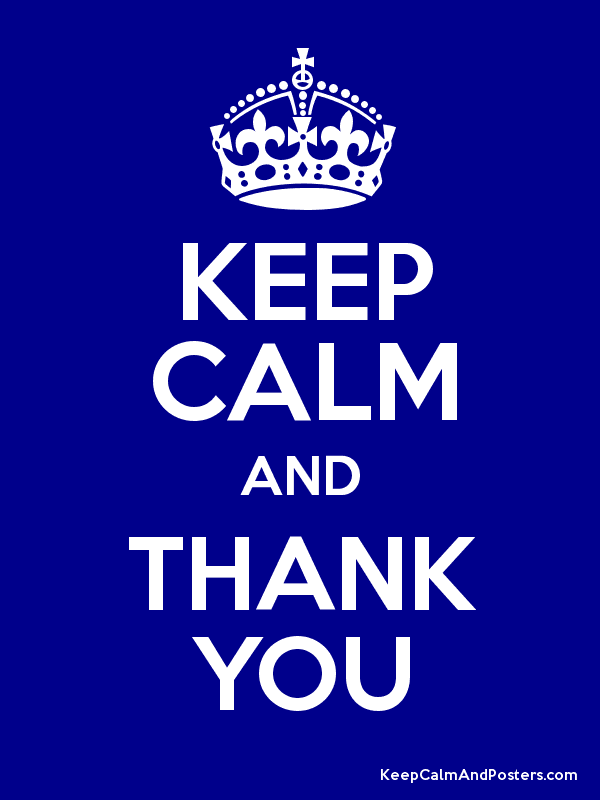 KEEP CALM AND THANK YOU Poster