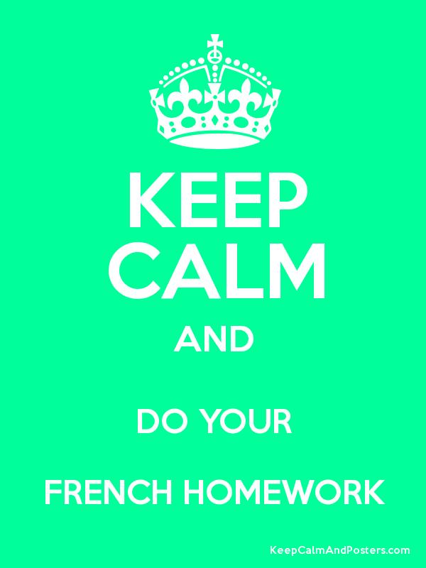French for homework