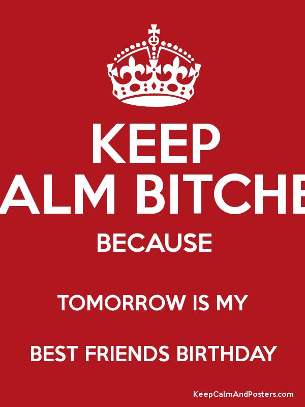 Keep calm bitches because tomorrow is my best friends birthday keep calm bitches because tomorrow is my best friends birthday poster thecheapjerseys Images
