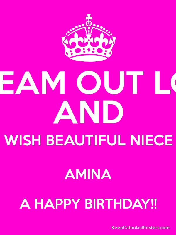 Happy Birthday Niece Images Free Download ~ Scream out loud and wish beautiful niece amina a happy