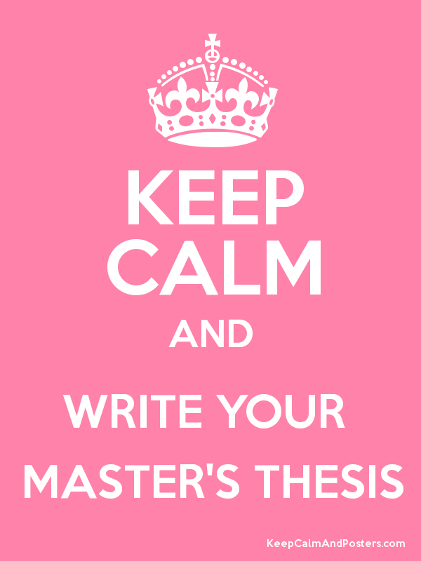 What is a thesis for your masters