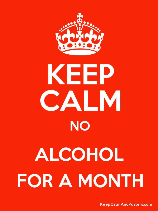 no alcohol for a month
