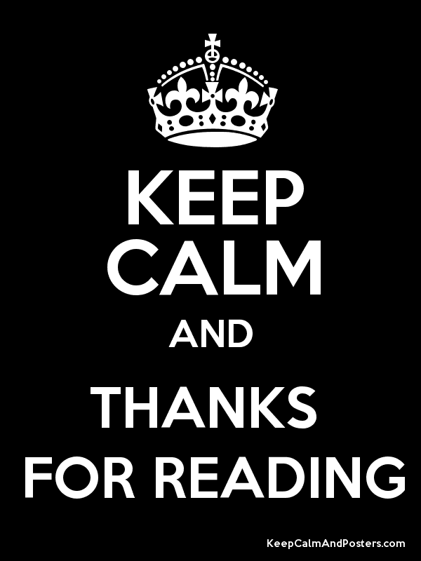 d7730e3f1c KEEP CALM AND THANKS FOR READING - Keep Calm and Posters Generator ...