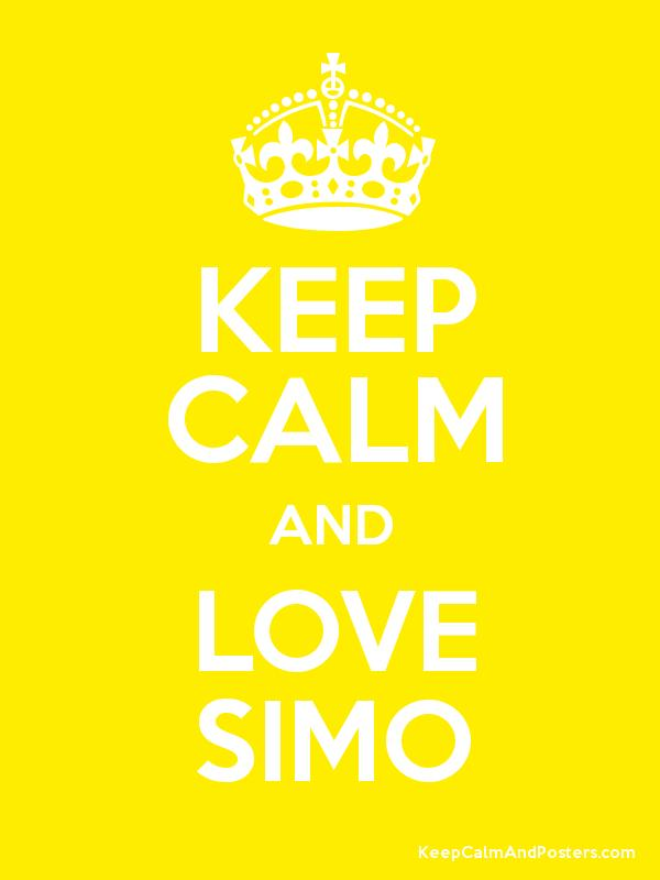Keep calm and love simo keep calm and posters generator maker for keep calm and love simo poster thecheapjerseys Choice Image