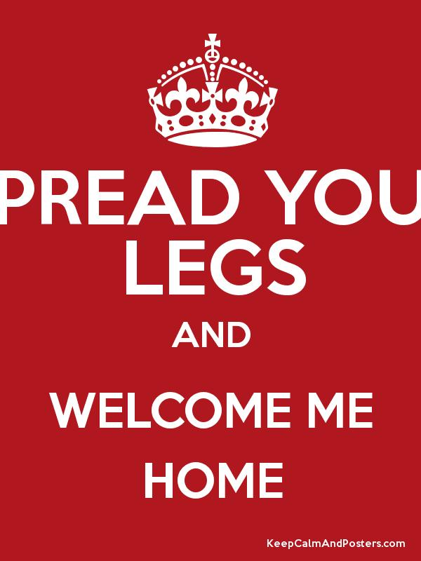 Spread Your Legs And Welcome Me Home Poster