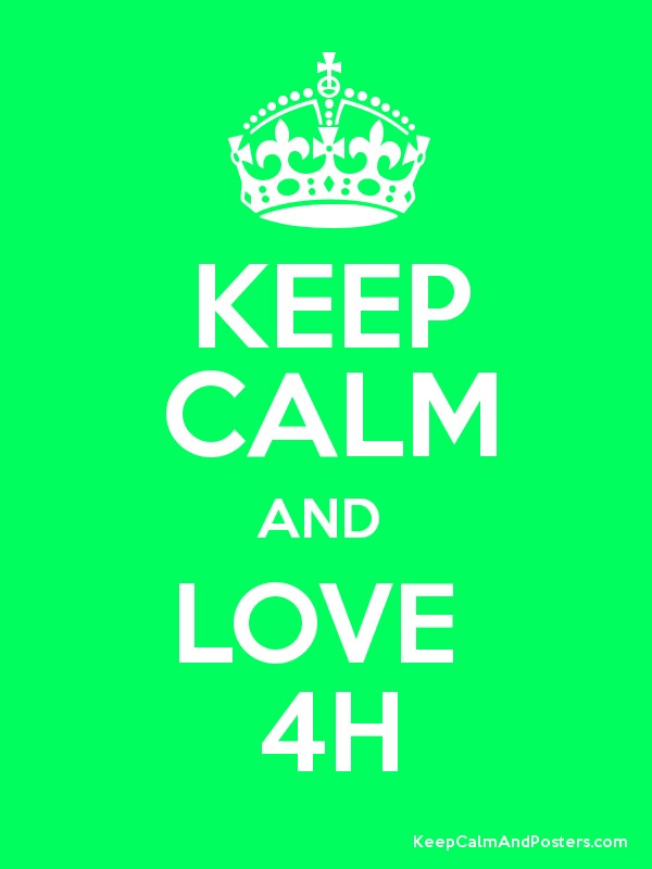 KEEP CALM AND LOVE 4H - Keep Calm and Posters Generator, Maker For ...