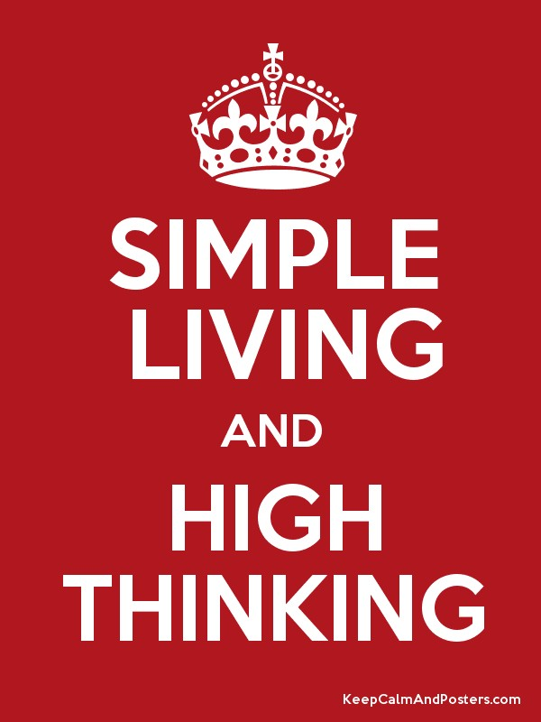 essay on simple living high thinking