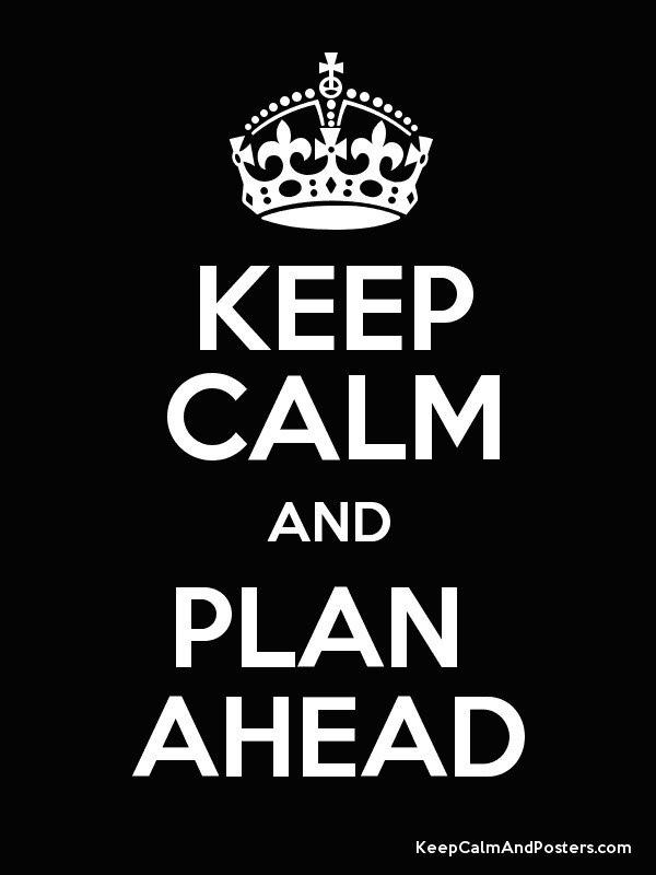 KEEP CALM AND PLAN  AHEAD Poster