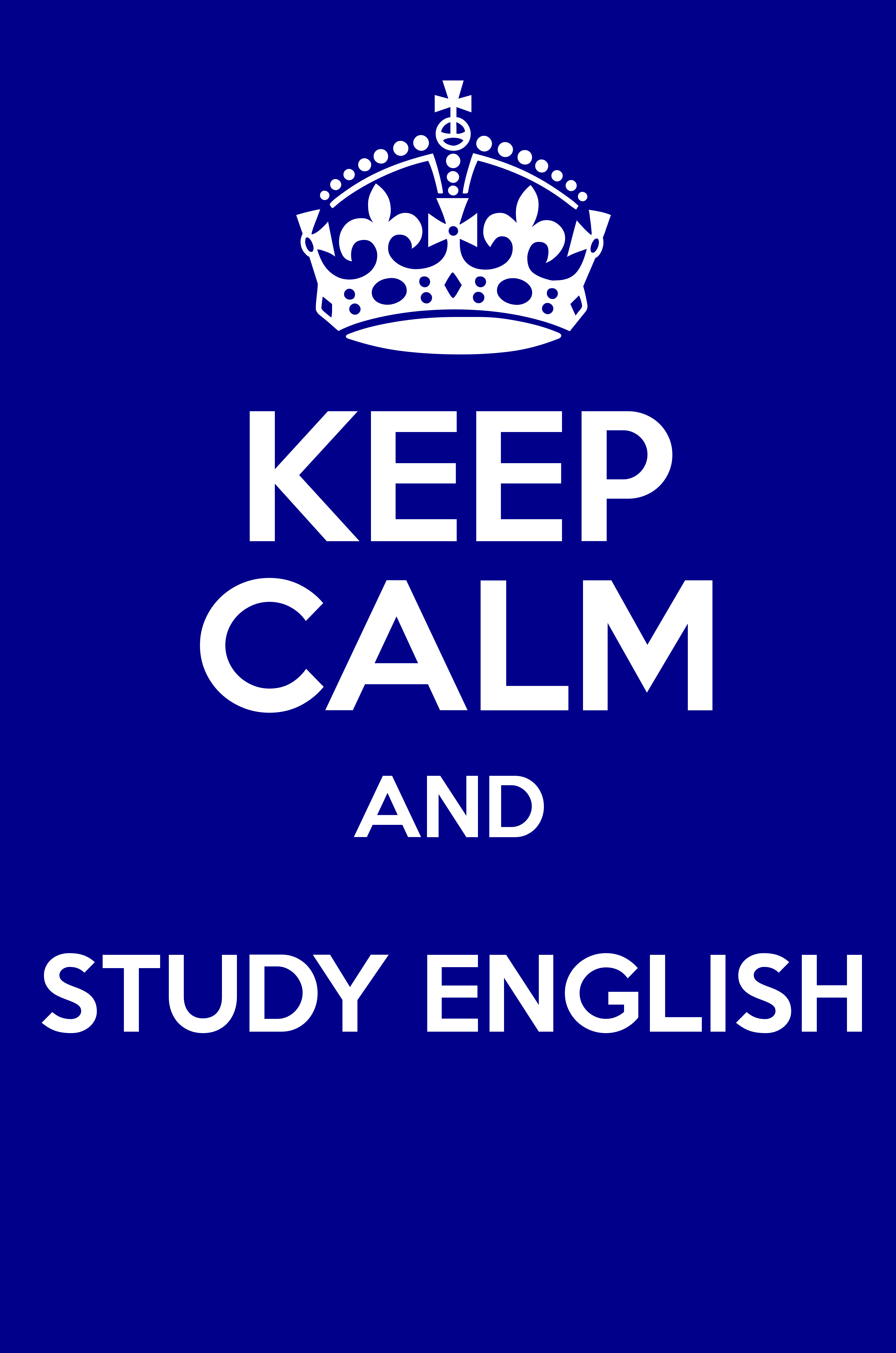 KEEP CALM AND STUDY ENGLISH  Poster