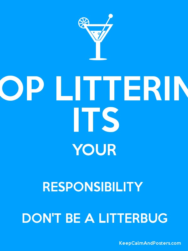 STOP LITTERING ITS YOUR RESPONSIBILITY DON'T BE A ...