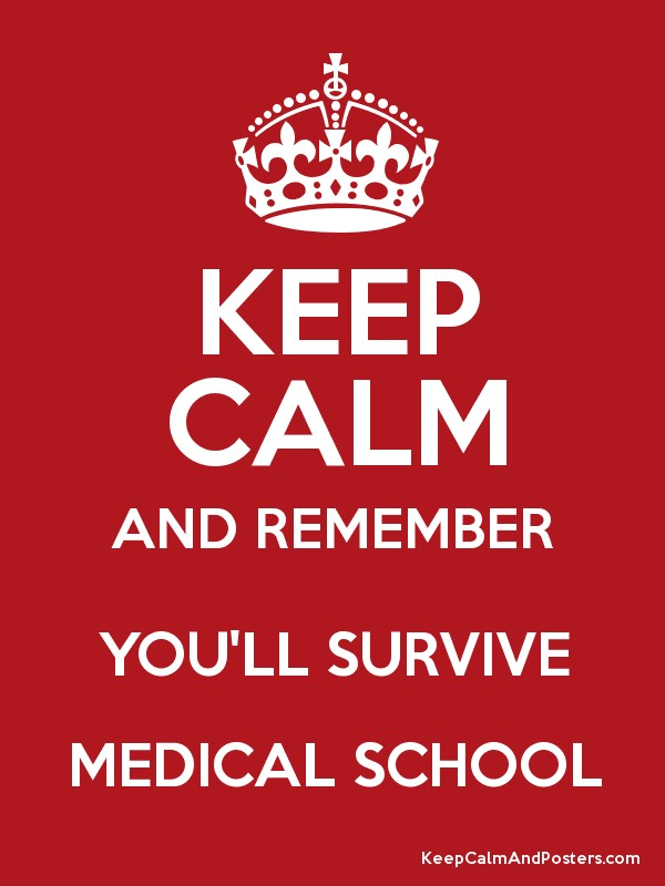 KEEP CALM AND REMEMBER YOU'LL SURVIVE MEDICAL SCHOOL - Keep