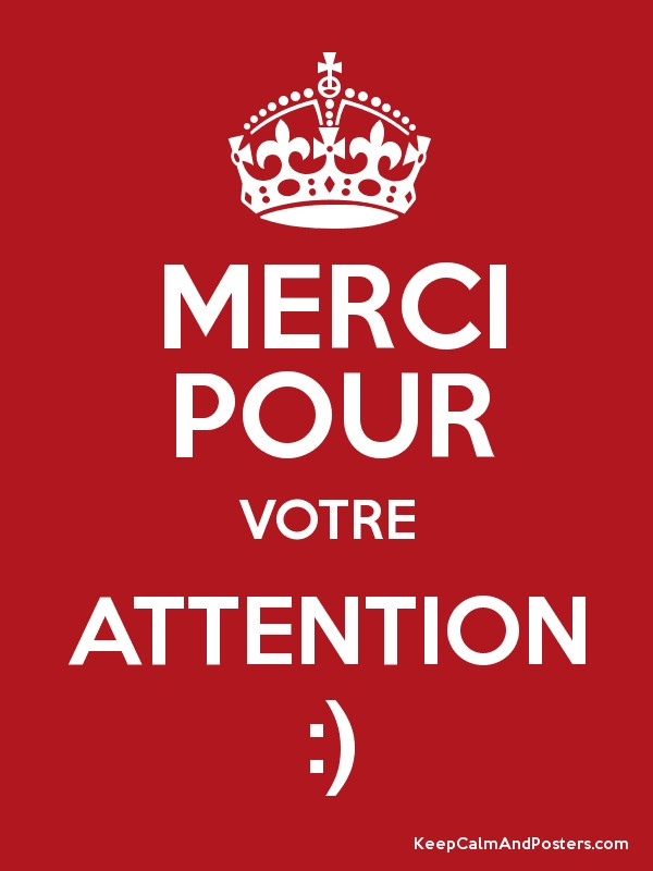 merci pour votre attention   keep calm and posters