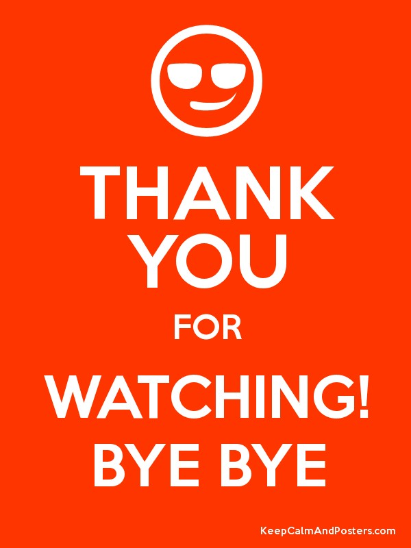 thank you for watching bye bye keep calm and posters generator