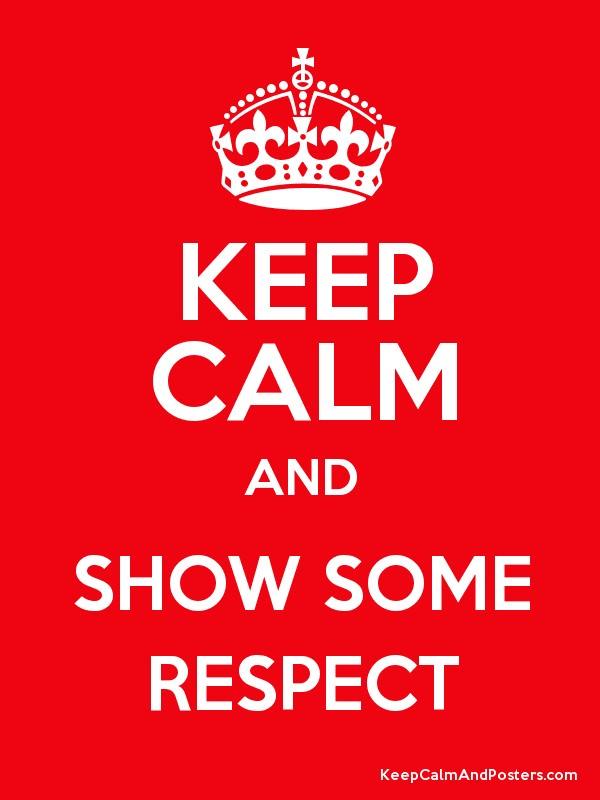 show some respect The artistic staff made us all aware of our own issues with respect and tolerance and gave us some activities to use in the classroom with our students.