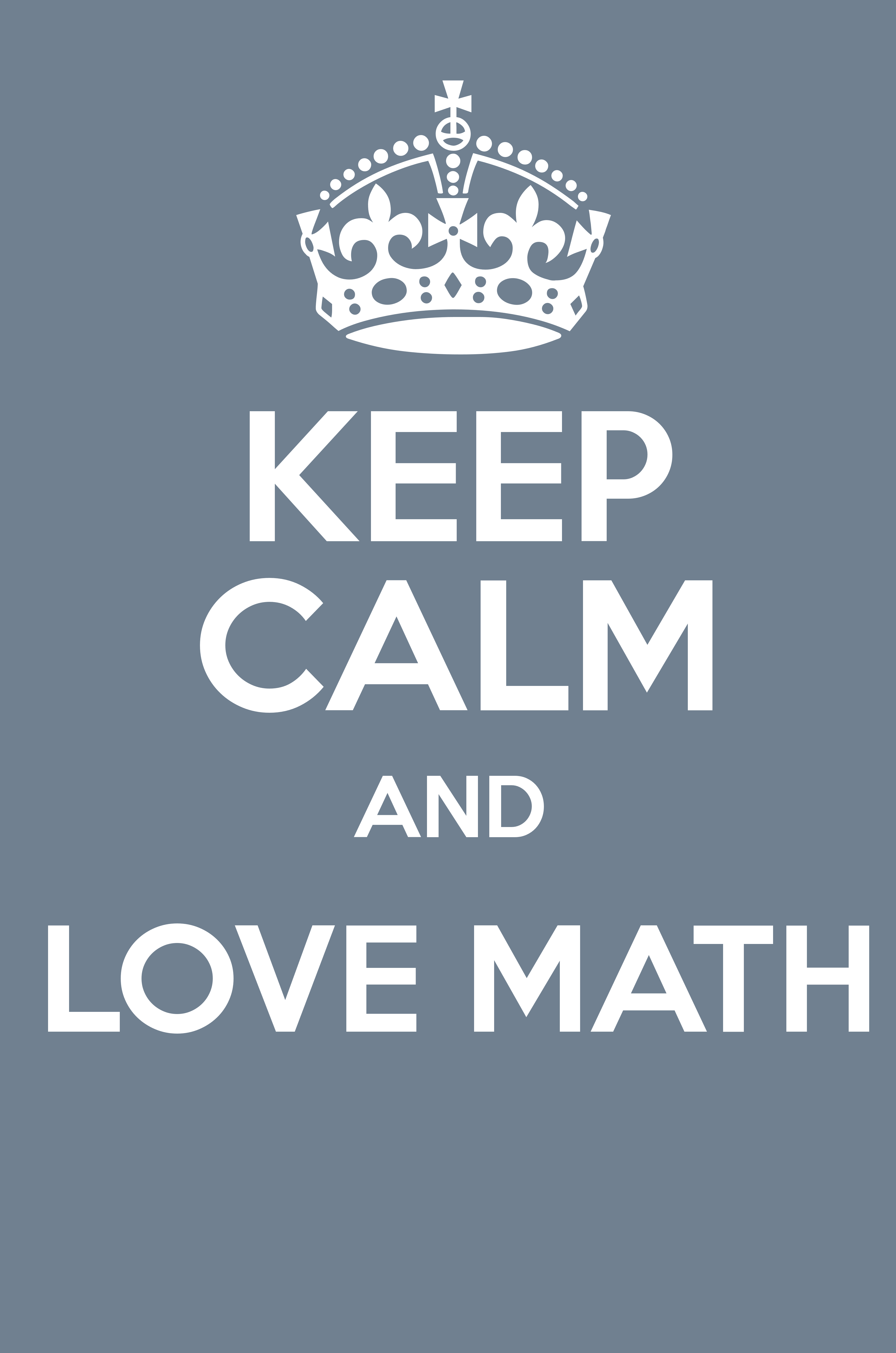 keep calm and love math - keep calm and posters generator, maker for