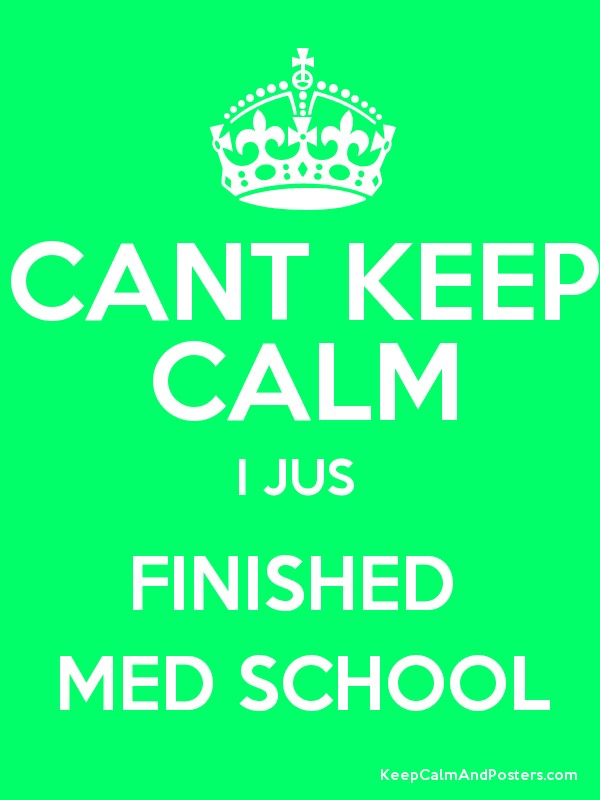 CANT KEEP CALM I JUS  FINISHED  MED SCHOOL Poster