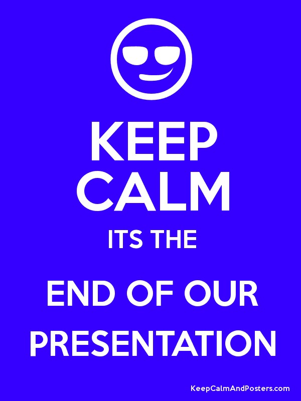 how to end a presentation about a director