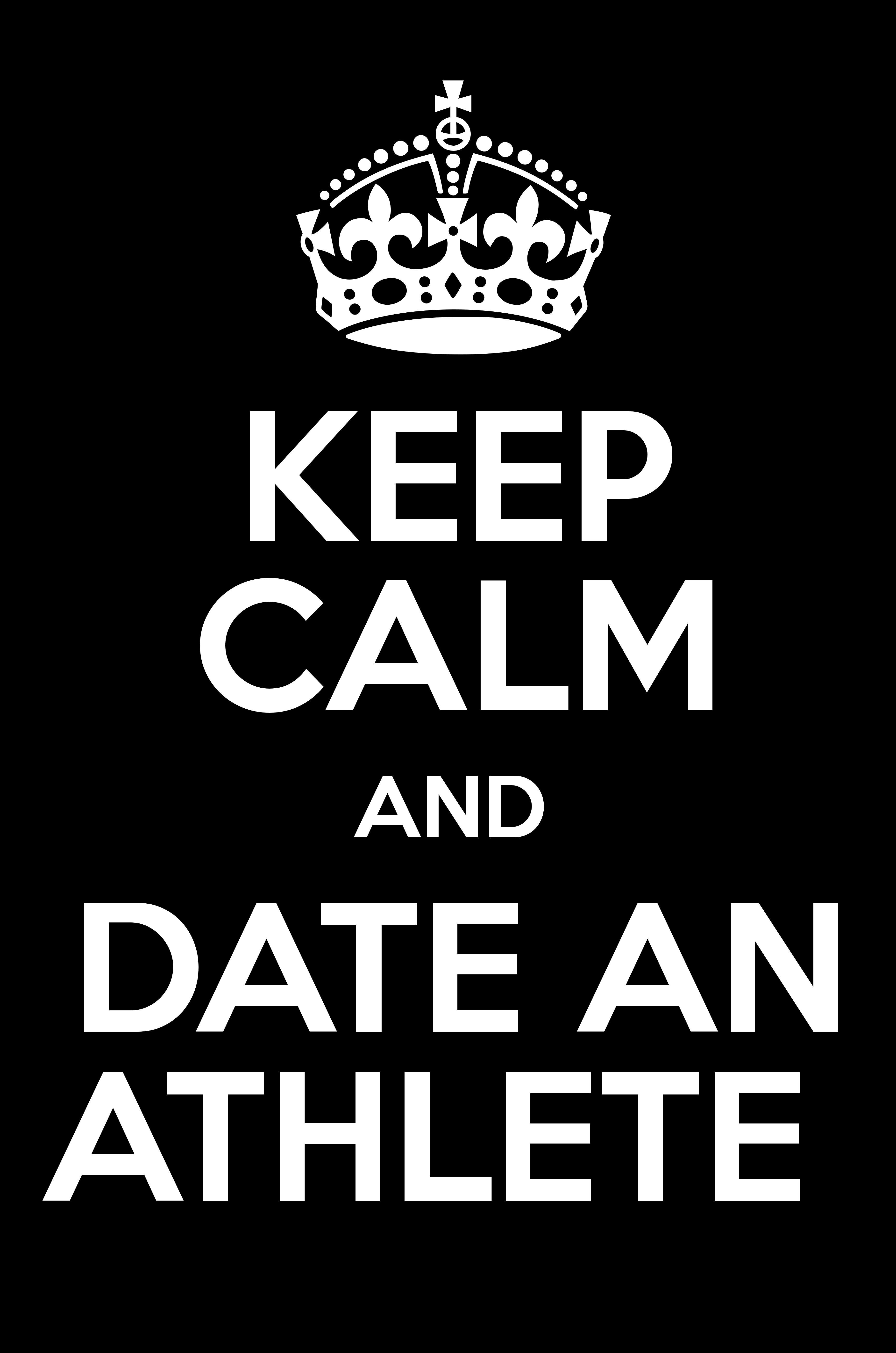 Model and athlete dating poster design
