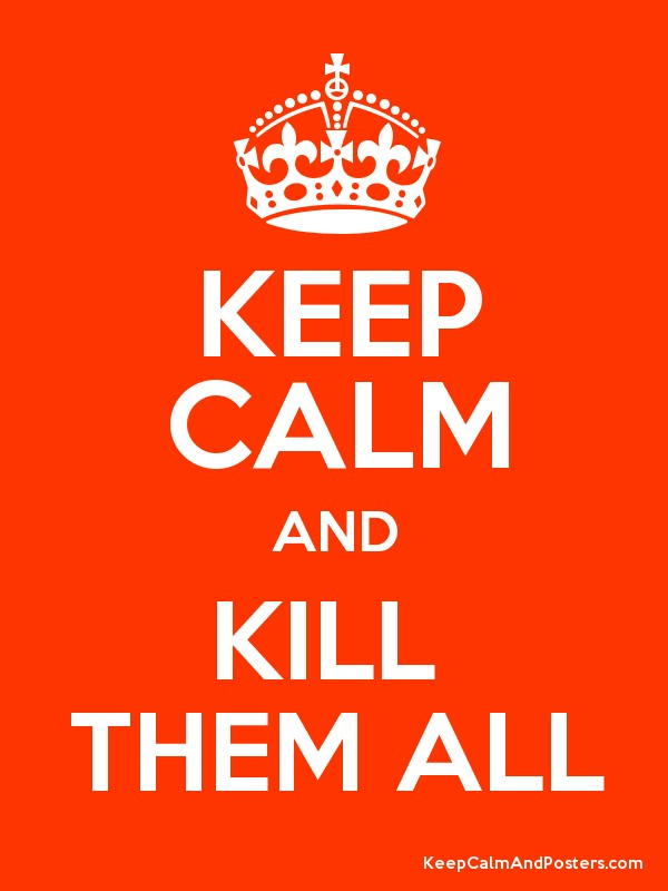 KEEP CALM AND KILL  THEM ALL Poster