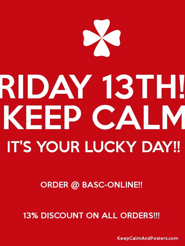 Friday 13th keep calm it 39 s your lucky day order for Buy posters online cheap