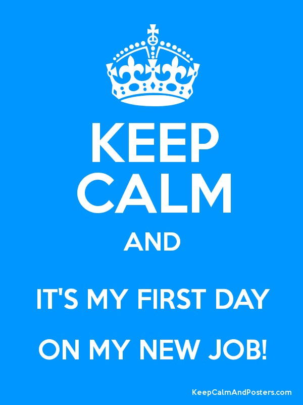 first day of new job