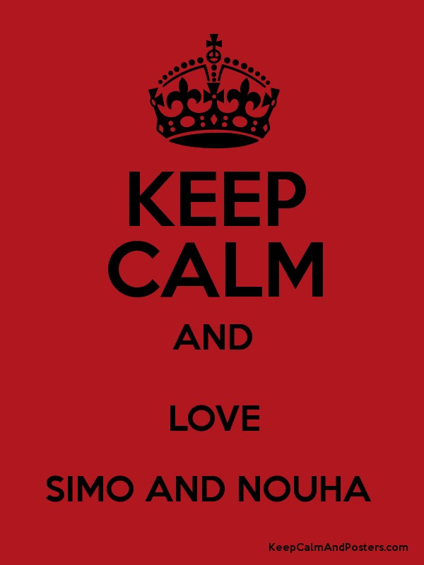 Keep calm and love simo and nouha keep calm and posters generator keep calm and love simo and nouha poster thecheapjerseys Choice Image