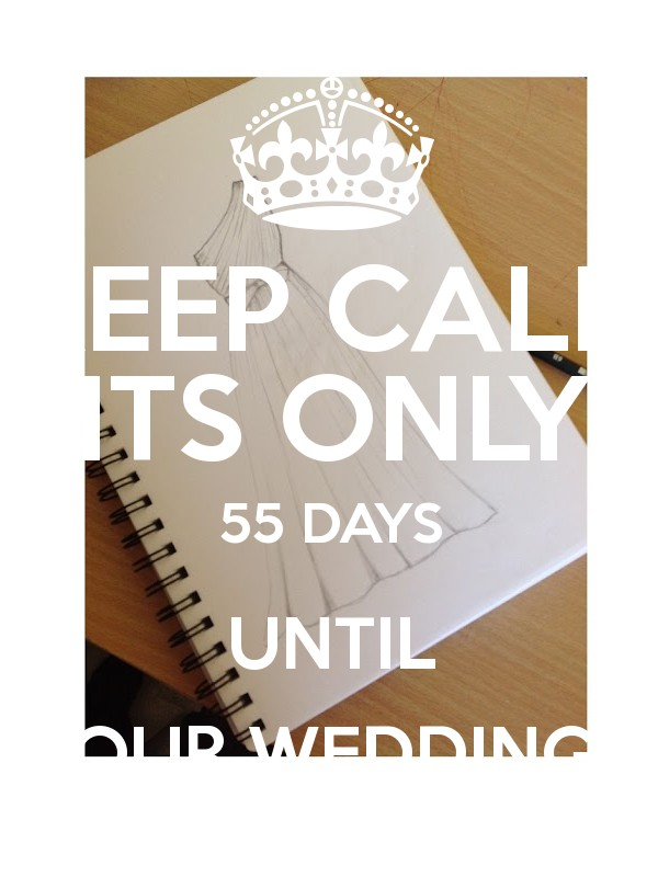 Keep Calm Its Only 55 Days Until Our Wedding Poster
