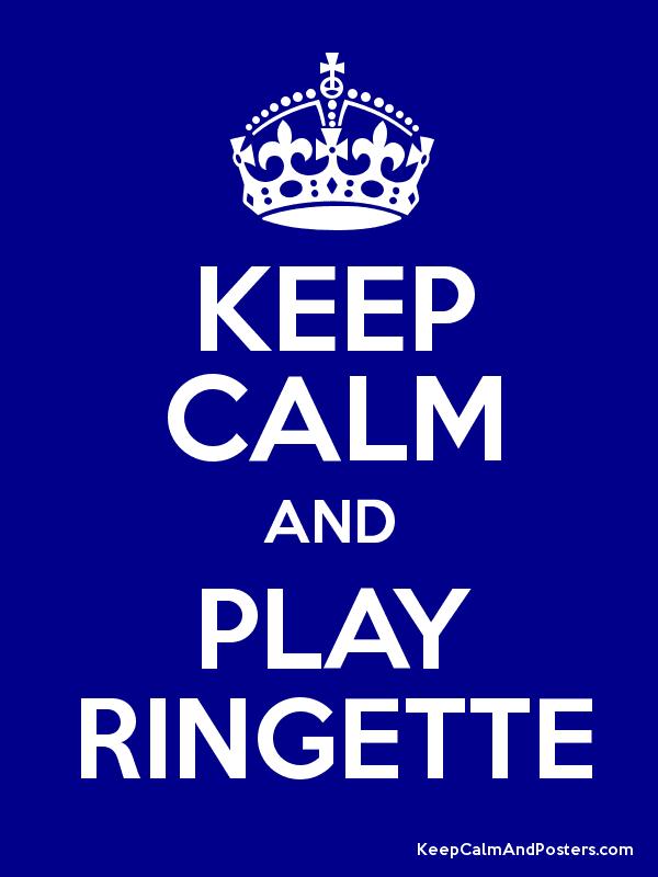 KEEP CALM AND PLAY RINGETTE Poster