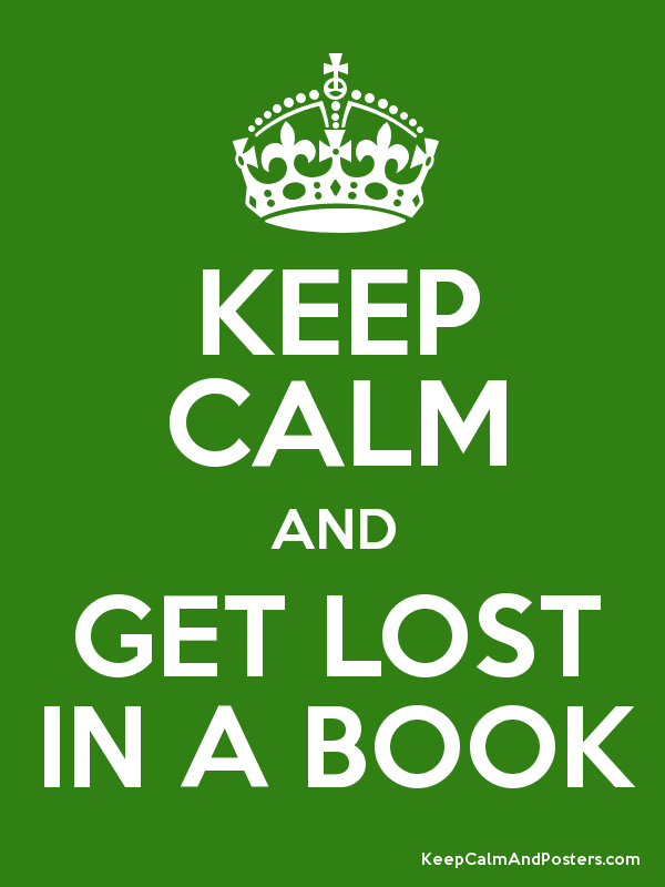 KEEP CALM AND GET LOST IN A BOOK Poster