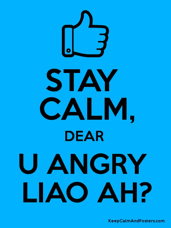 how to keep calm when angry