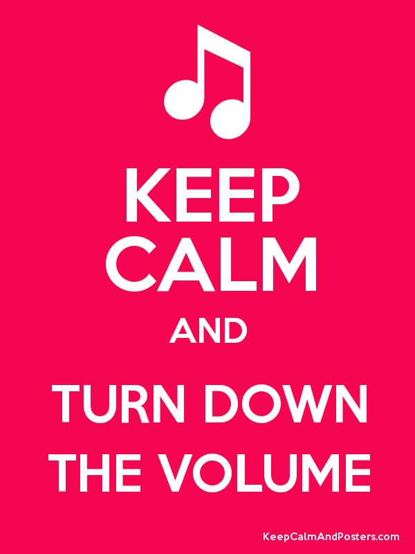 KEEP CALM AND TURN DOWN THE VOLUME Poster