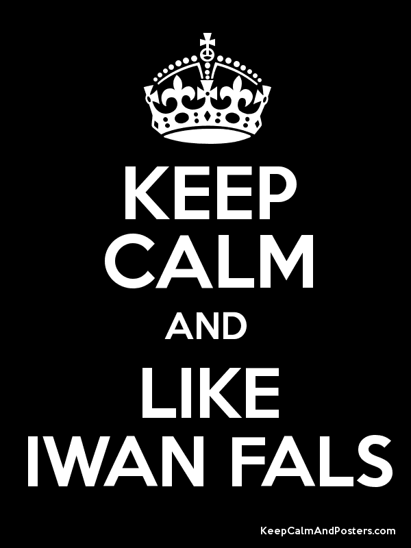 KEEP CALM AND LIKE IWAN FALS Poster
